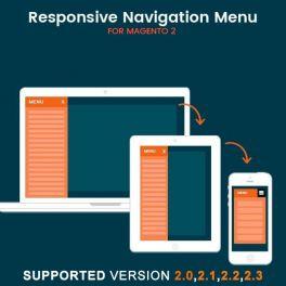 Magento 2 Responsive navigation menu extension