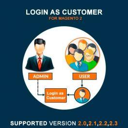 Magento 2 Login as Customer extension