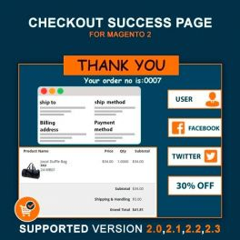 Magento 2 Checkout success page extension