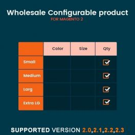 Magento 2 WHolesale configurable product extension